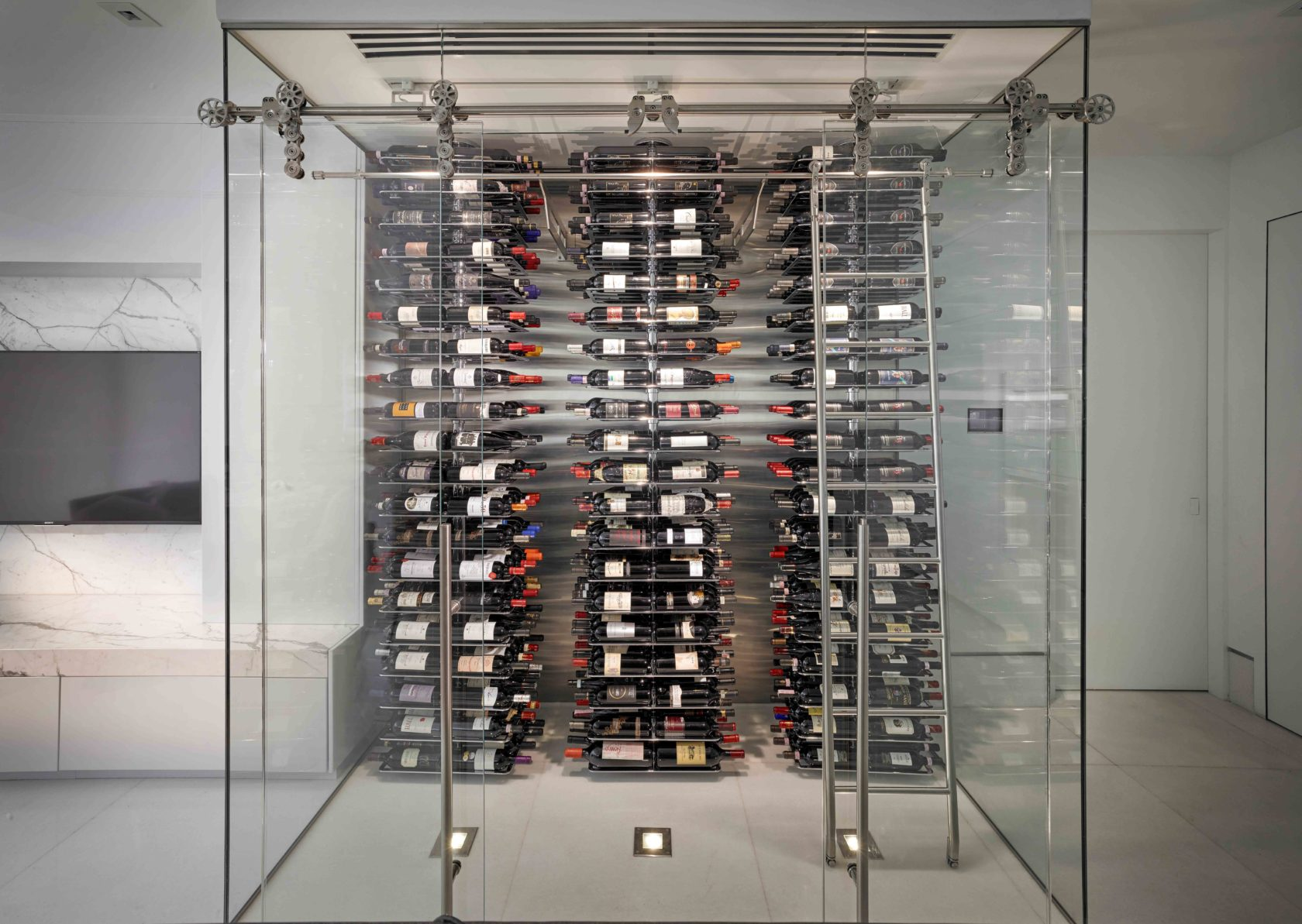 contemporary wine racks