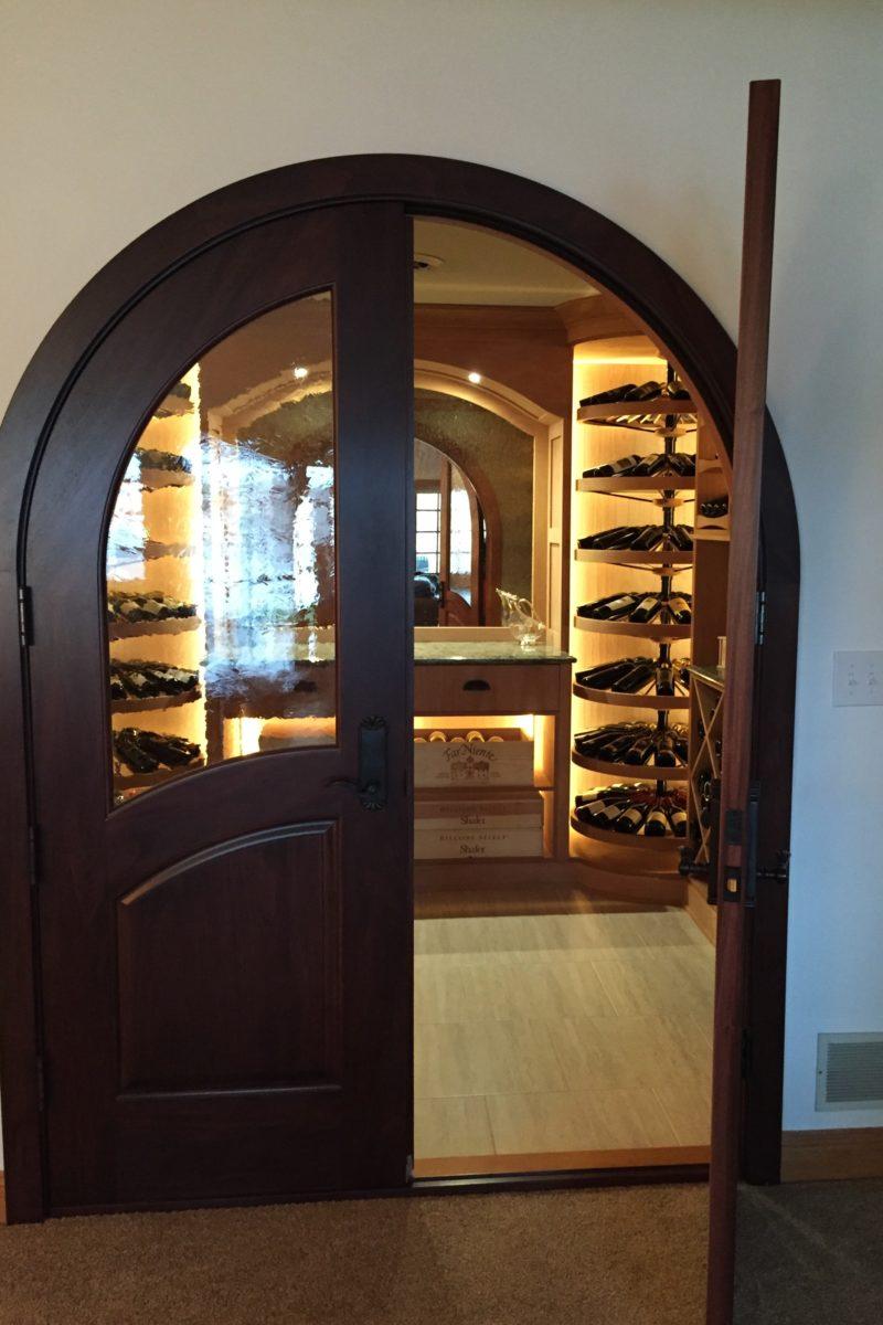 arched wine cellar doors