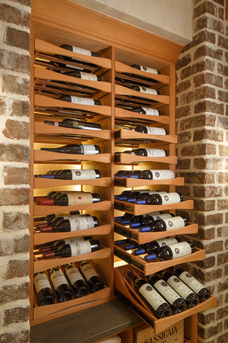 wine drawers in Memphis wine cellar