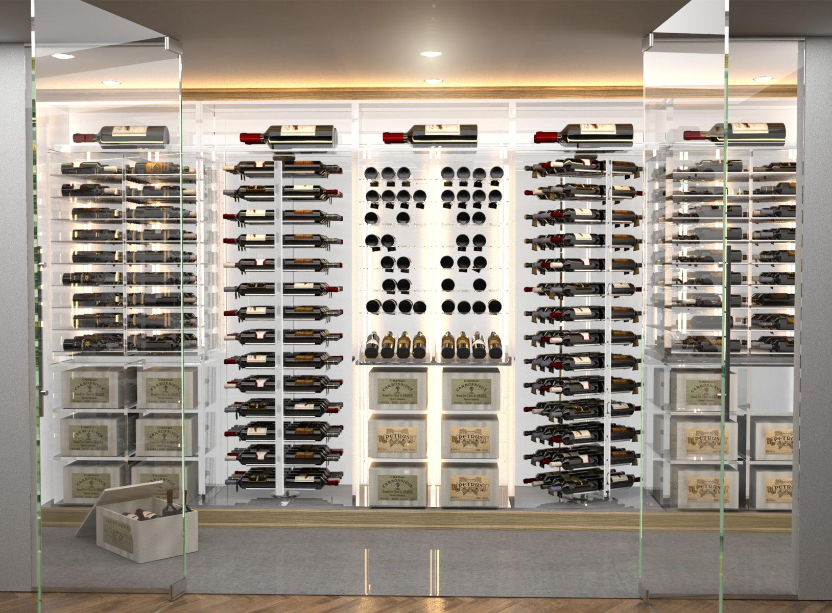 Modern Acrylic Wine Cellar